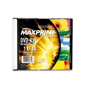 DVD-RW Regravável Slim  4.7GB – Maxprint 50201-8